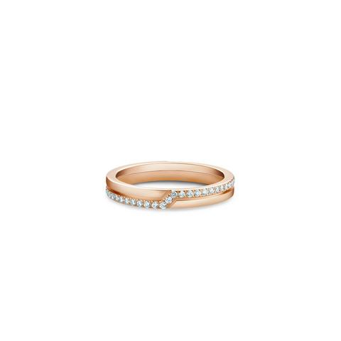 The Promise half pavé band in rose gold