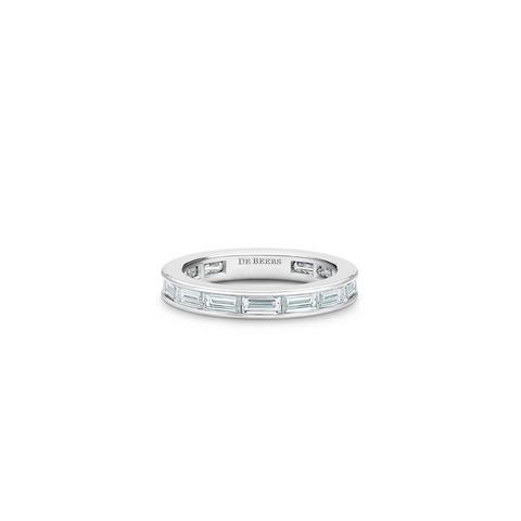 DB Classic  baguette-cut diamond eternity band in platinum