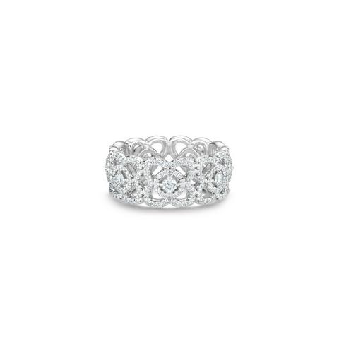 Bague Enchanted Lotus en or blanc
