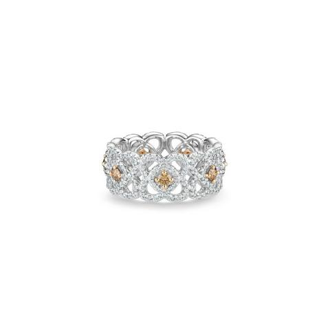 Bague Enchanted Lotus diamants bruns en or blanc