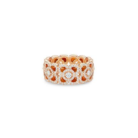 Enchanted Lotus band in rose gold and carnelian