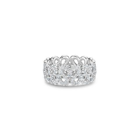 Swan Lake高级珠寶白金戒指