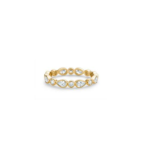 Petal band in yellow gold
