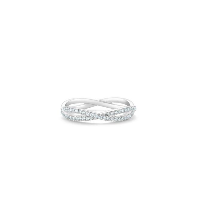 Infinity full pavé band in white gold