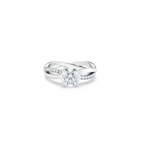 Infinity round brilliant diamond ring
