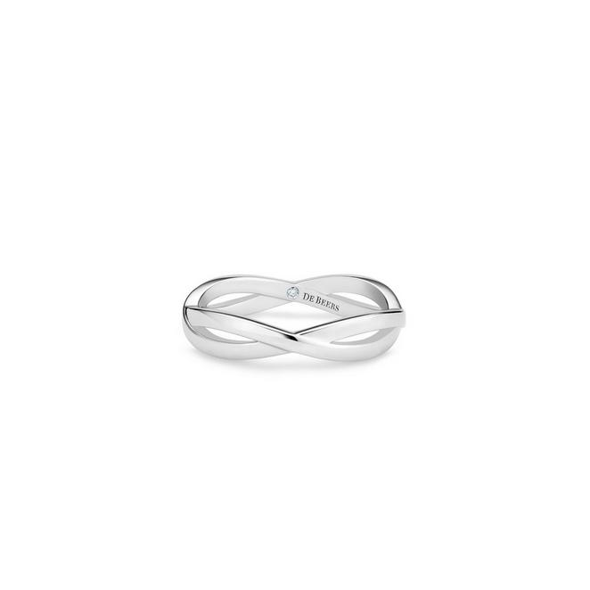 Infinity band in white gold