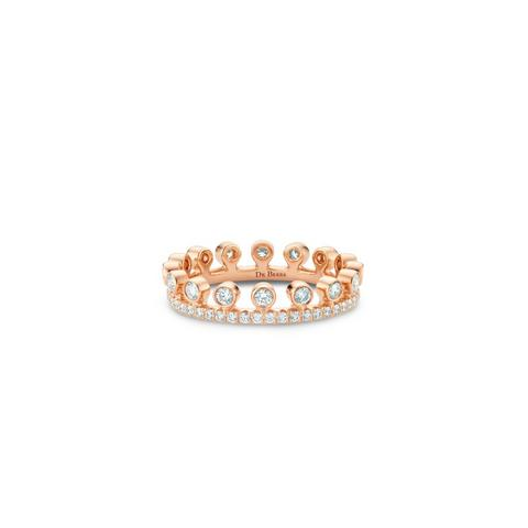 Dewdrop pavé ring in rose gold