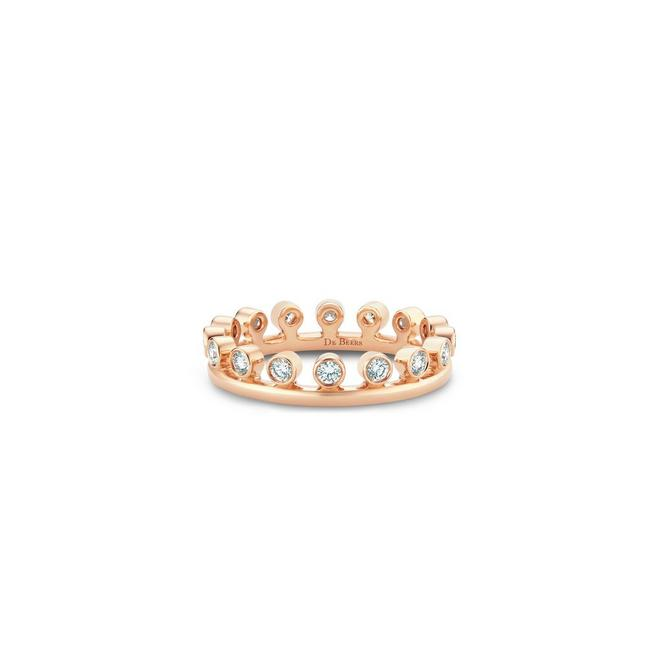 Dewdrop ring in rose gold