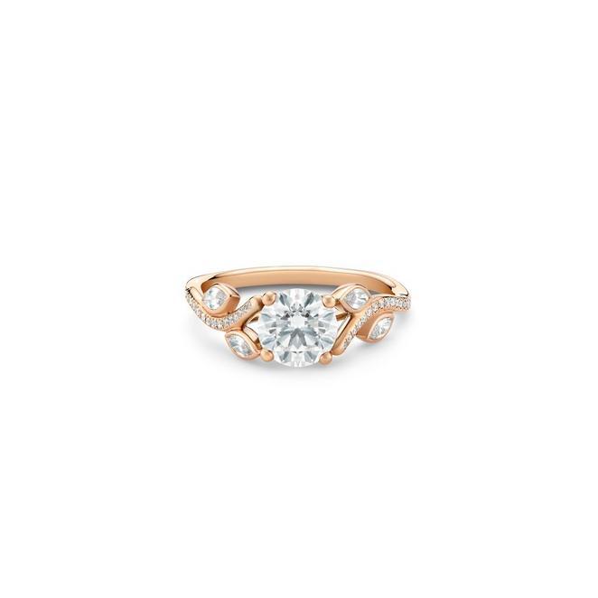 Adonis Rose玫瑰金圓形鑽石戒指