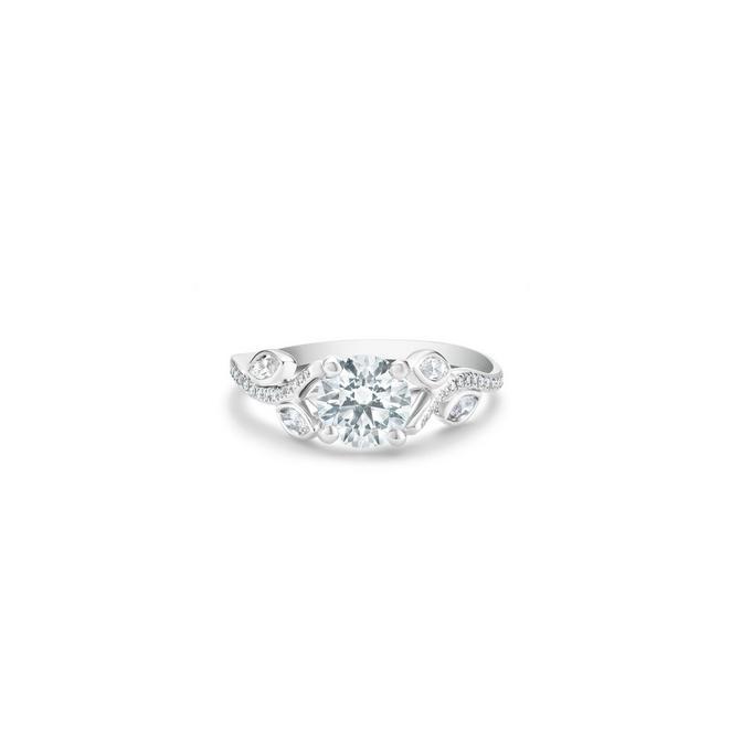 Solitaire Adonis Rose diamant taille brillant