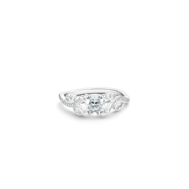 Adonis Rose cushion-cut diamond ring