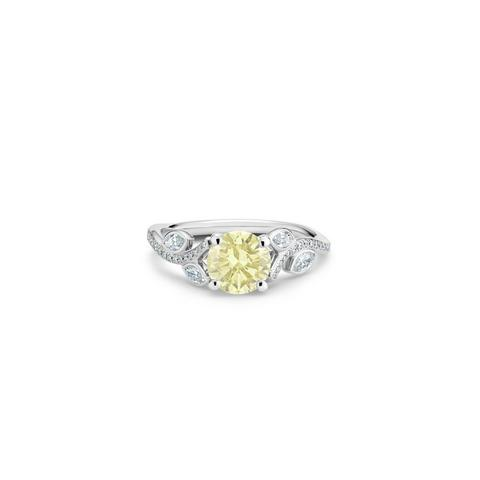 Adonis Rose round brilliant yellow diamond ring