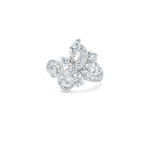 Adonis Rose cluster ring in white gold
