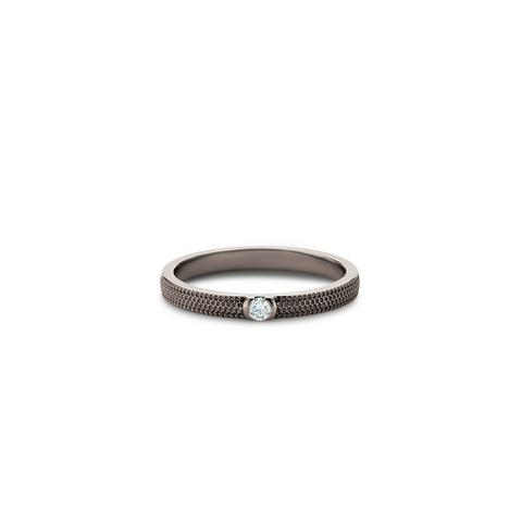 Talisman Azulea small band in black rhodium-plated gold