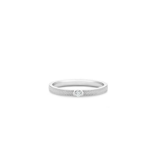 Talisman Azulea small band in white gold