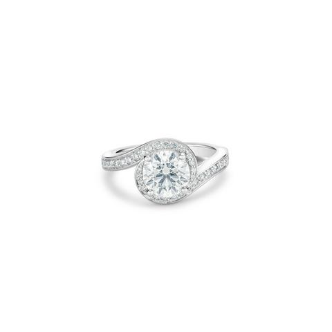 Solitaire Caress diamant taille brillant