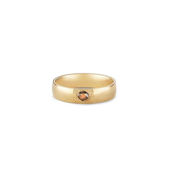 Bague Talisman large en or jaune
