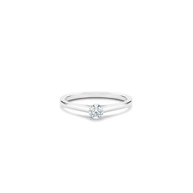 DB Classic round brilliant diamond ring in platinum