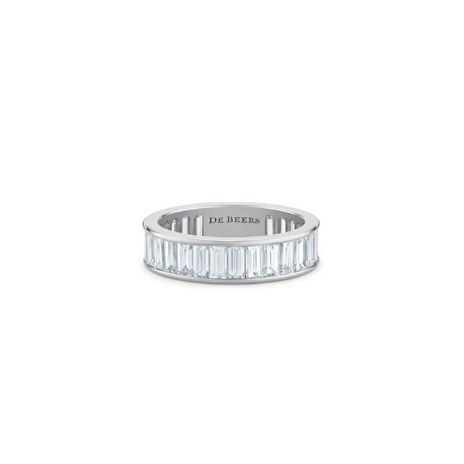 DB Classic baguette-cut  eternity band in platinum