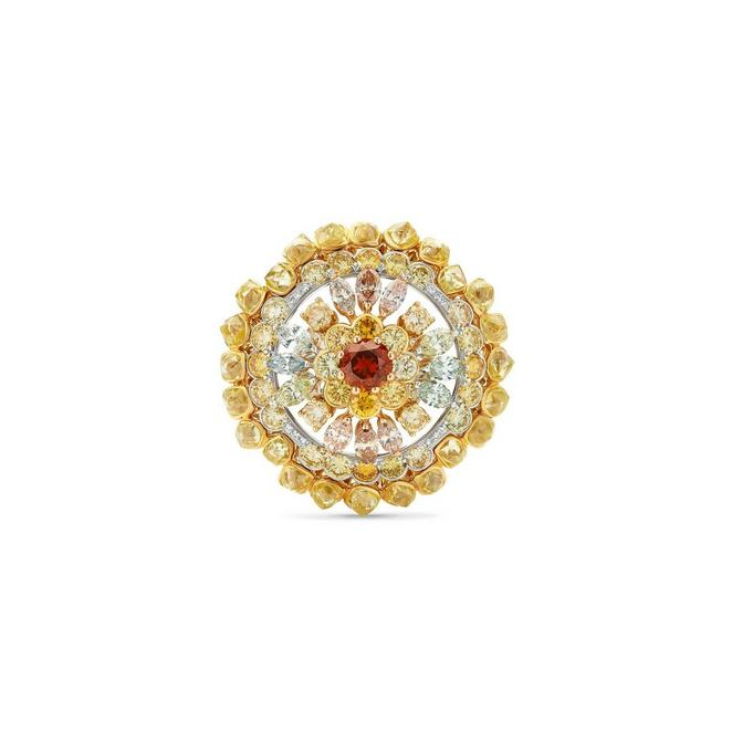 Landers Radiance medallion orange ring