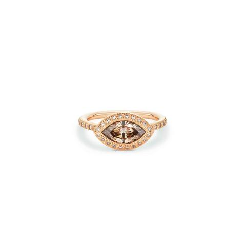 Talisman marquise-shaped stacking ring in rose gold